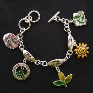 Jewelry - Green New Deal Charm Bracelet